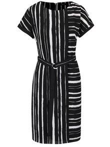 Krémovo-černé volné pruhované šaty M&Co