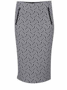 Fustă alb&negru M&Co cu model geometric
