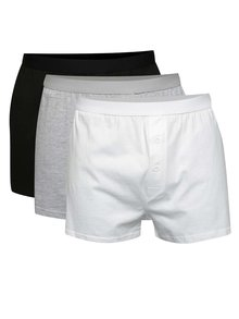 Set 3 perechi boxeri albi/negri/gri M&Co