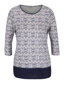 Bluză multicoloră M&Co cu model floral stilizat