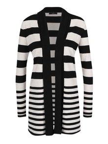 Cardigan alb&negru M&Co cu model în dungi şi guler şal