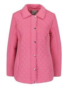 Geacă roz matlasată M&Co din material texturat