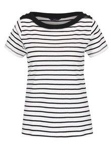 Čierno-biele dámske pruhované tričko M&Co
