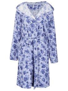 Modrý dámsky kvetovaný župan M&Co