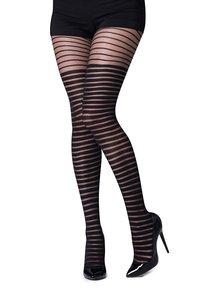Ciorapi negri Gipsy cu model în dungi