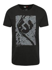 Tricou negru Ragwear Paddy Map regular fit din bumbac cu print