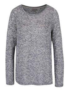 Sivý melírovaný sveter s čipkovaným chrbtom VERO MODA Almond