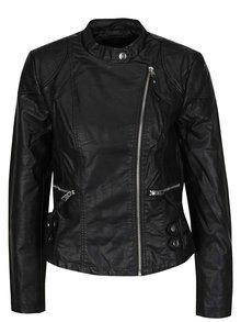 Jachetă neagră VERO MODA Alina din piele sintetică