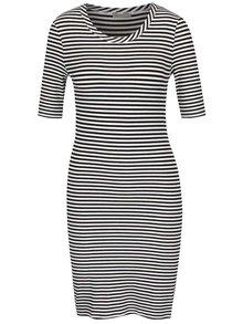 Černo-bílé pruhované šaty VERO MODA Yeng