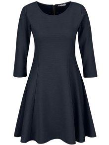 Tmavě modré žebrované šaty ZOOT