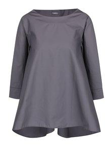 Bluză supradimensionată gri ZOOT cu mâneci trei sferturi