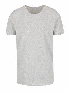 Sivé basic tričko Selected Homme Tone