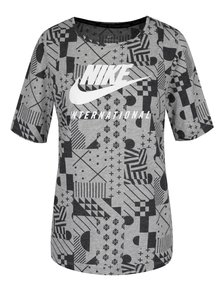 Tricou gri&negru Nike Internationalist