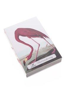 Farfurie pentru aperitiv crem cu imprimeu flamingo Magpie Birds