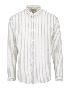Modro-krémová pruhovaná košile Selected Homme Two Spun