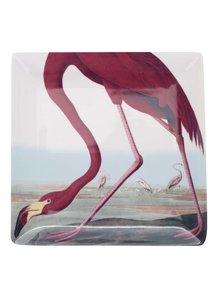 Červeno-krémová veľká miska s potlačou Magpie Birds