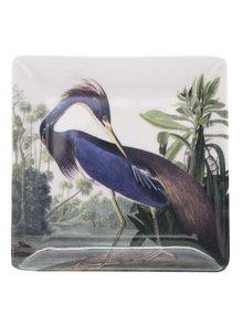 Farfurie pentru aperitiv crem cu imprimeu Magpie Birds