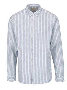 Krémovo-modrá pruhovaná košile Selected Homme Two Spun