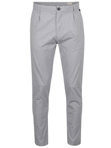 Sivé chino nohavice Selected Homme Axel