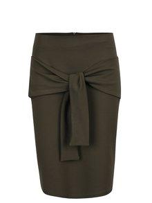 Tmavě zelená sukně s mašlí  ZOOT