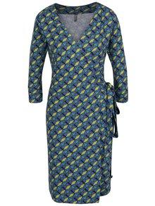 Zeleno-modré vzorované zavinovacie šaty Tranquillo Juliane