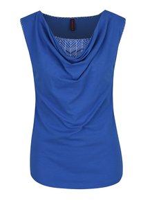 Tmavě modré tričko bez rukávů Tranquillo Lina