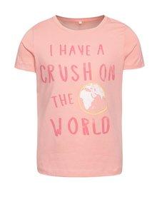 Ružové dievčenské tričko s potlačou name it Vixida