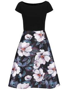 Rochie neagră cu imprimeu floral AX Paris