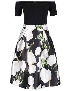 Rochie neagră cu imprimeu floral AX Paris cu decolteu pe umeri