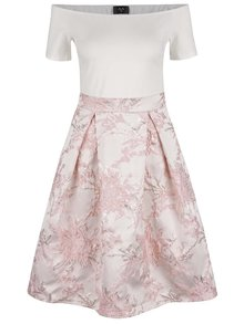 Krémovo-ružové šaty AX Paris
