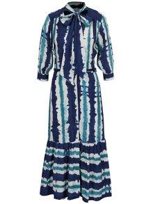 Modré vzorované šaty na zapínanie Closet