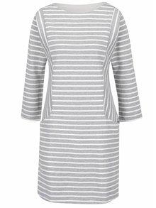 Bílo-šedé pruhované šaty Tom Joule Britanny