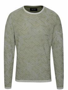 Šedo-zelený vzorovaný svetr ONLY & SONS Pavel