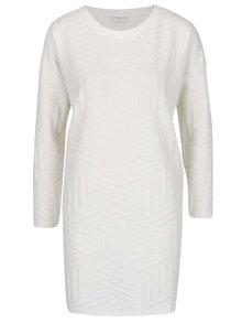 Krémové šaty s dlouhým rukávem Jacqueline de Yong Fiona