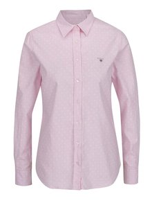 Ružová dámska bodkovaná košeľa GANT Oxford