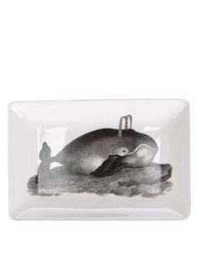 Krémová porcelánová miska s potiskem velryby Magpie Curios