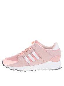 Pantofi sport roz adidas Originals Equipment Support cu detalii din piele întoarsă