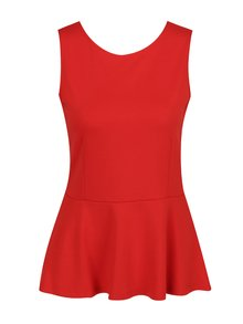 Červený top s krajkou na zádech VILA Gemma