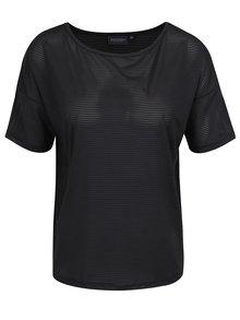 Čierne tričko s priesvitnými pruhmi Broadway Dillen