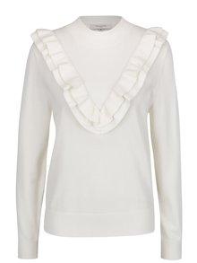 Krémový sveter s volánmi Selected Femme Addi