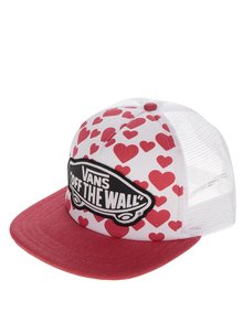 Șapcă alb&roșu cu imprimeu VANS Beach Girl
