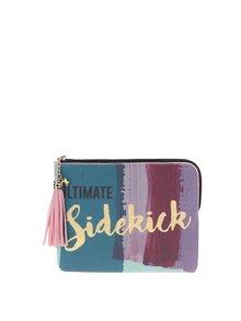 Ružovo-zelená peňaženka so strapcom Disaster