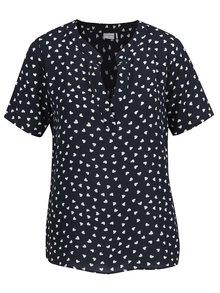 Bluză albastru închis Jacqueline de Yong Orla cu model cu buline și croi lejer