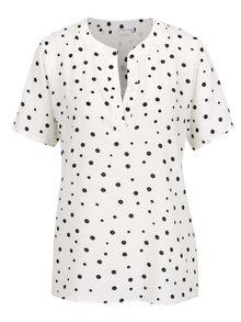 Bluză crem Jacqueline de Yong Orla cu model cu buline