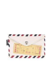 Krémová peněženka ve tvaru obálky Disaster Beatles