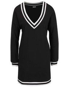 Rochie neagră Jacqueline de Yong Dusty cu detalii albe