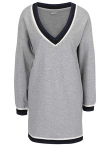 Sivé mikinové šaty Jacqueline de Yong Dusty
