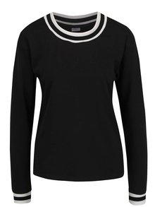 Černé tričko s dlouhým rukávem Jacqueline de Yong Dusty