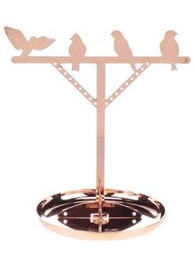 Suport de bijuterii auriu rose Kikkerland Bird