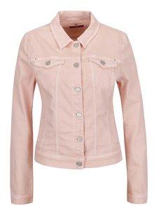 Ružová dámska rifľová bunda s.Oliver